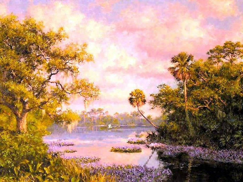 gentle breezes purple maze. Albert Ernest Backus