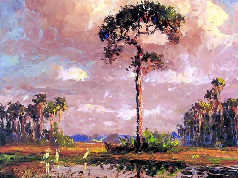 gentle breezes lone pine. Albert Ernest Backus