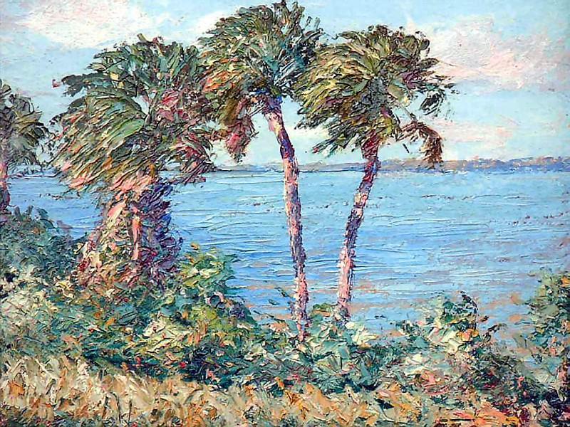 Нежные ветерки Гнущиеся под ветром пальмы. Альберт Эрнест Бэкуса