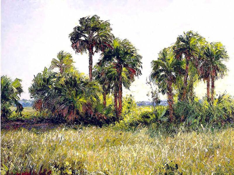 Нежные ветерки Гамак на пальме. Альберт Эрнест Бэкуса