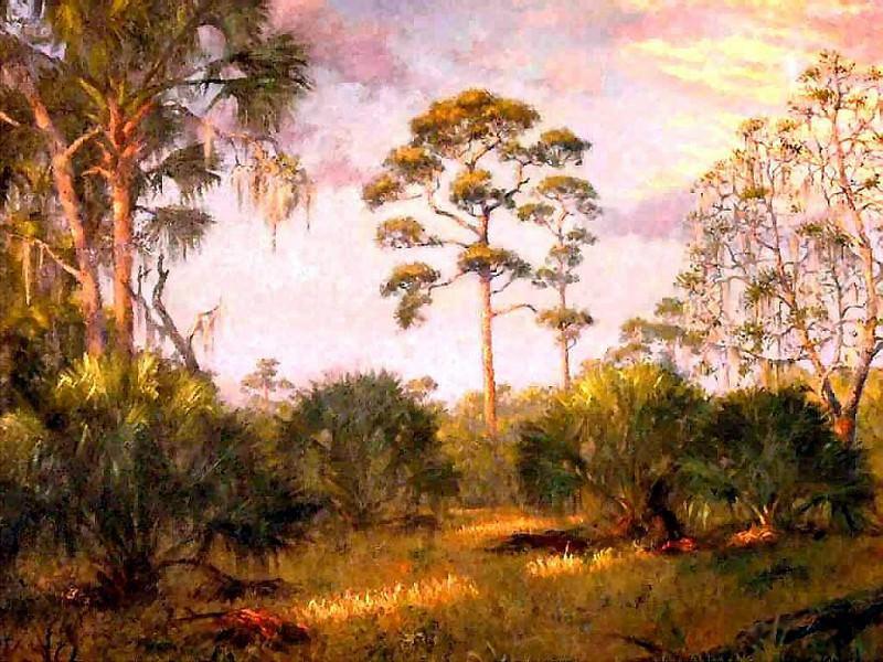 gentle breezes high country pines. Albert Ernest Backus