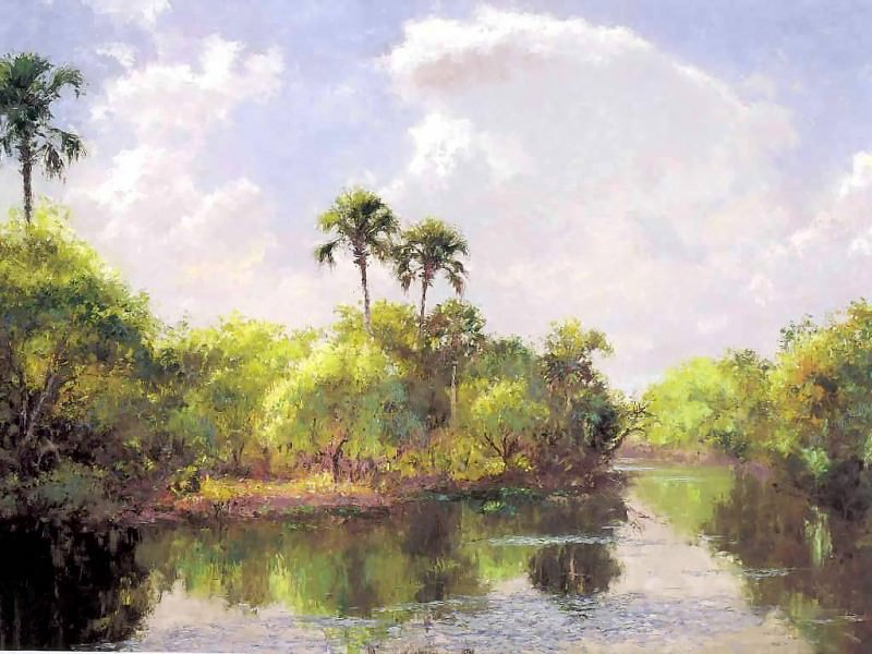 gentle breezes island waterway. Albert Ernest Backus