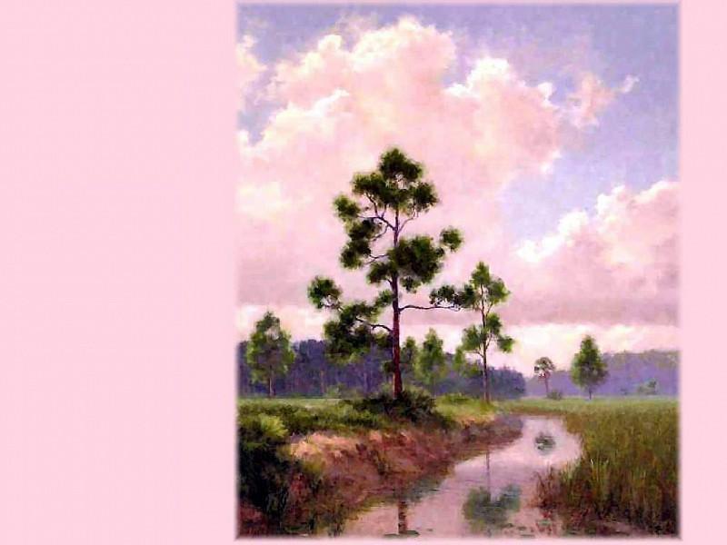 gentle breezes green meadows. Albert Ernest Backus