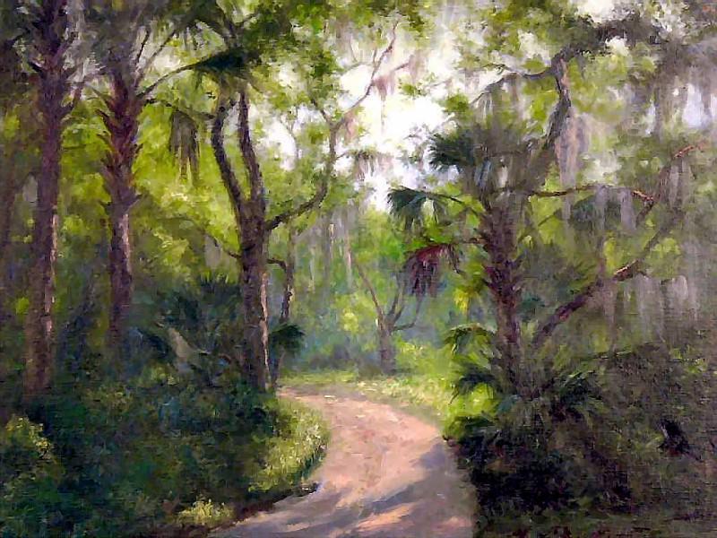 gentle breezes back woods road. Albert Ernest Backus