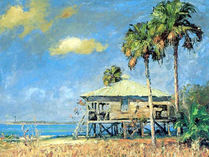 Нежные ветерки Пляжный домик в Санибеле. Альберт Эрнест Бэкуса