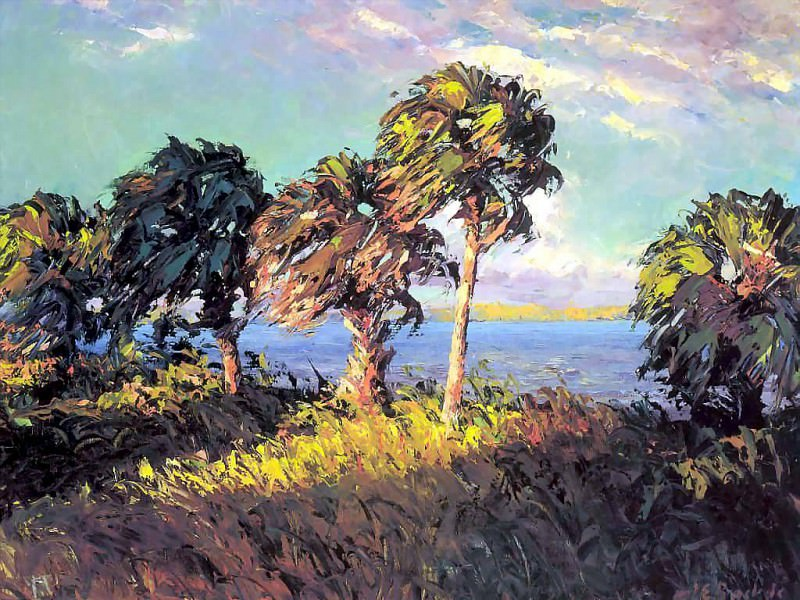 gentle breezes cabbage palms. Albert Ernest Backus