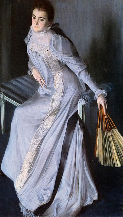 Portrait Of Senora Eugenia Huici De Errazuriz. Jacques Emile Blanche