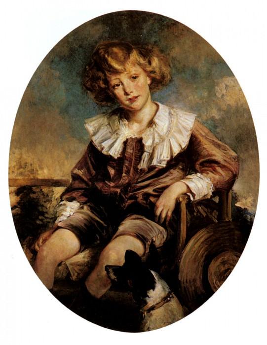 Portrait Of Antonin De Mun As A Young Boy. Jacques Emile Blanche