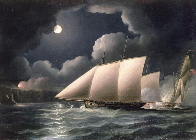 Smugglers & Revenue Cutter. Thomas Buttersworth