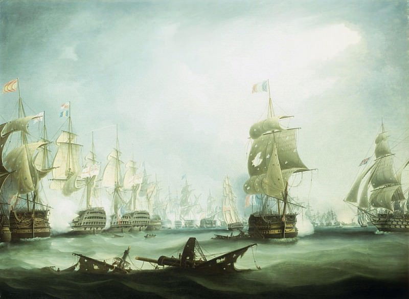 The Battle of Trafalgar, 1805. Thomas Buttersworth