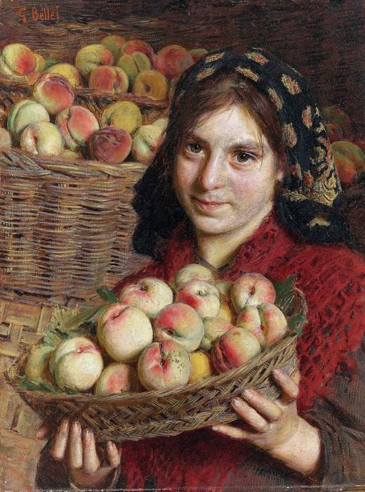 The Peach Harvester. Gaetano Bellei
