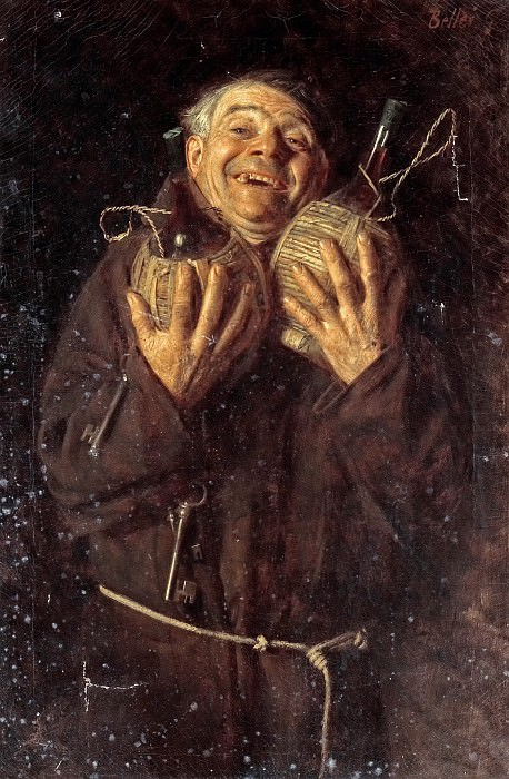 The happy monk. Gaetano Bellei