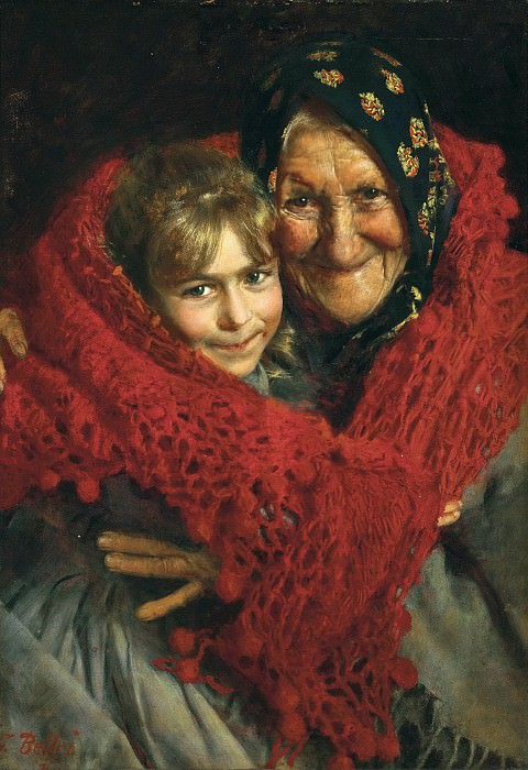 Grandmother and Child. Gaetano Bellei