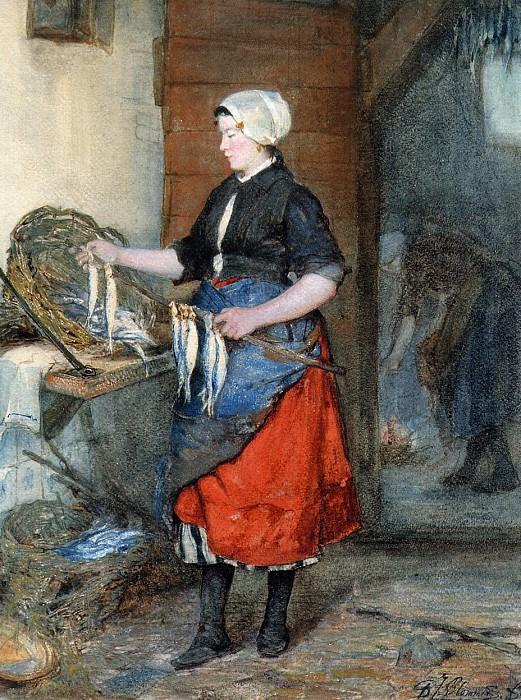 Beading the herring. Bernardus Blommers