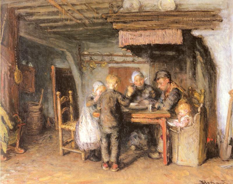Семейный обед. Бернардус Бломмерс