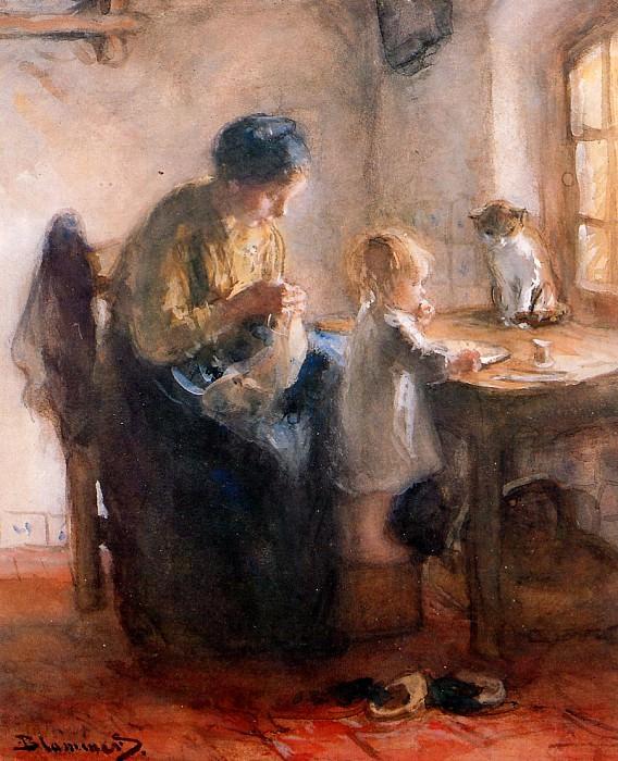 Мать и дитя. Бернардус Бломмерс