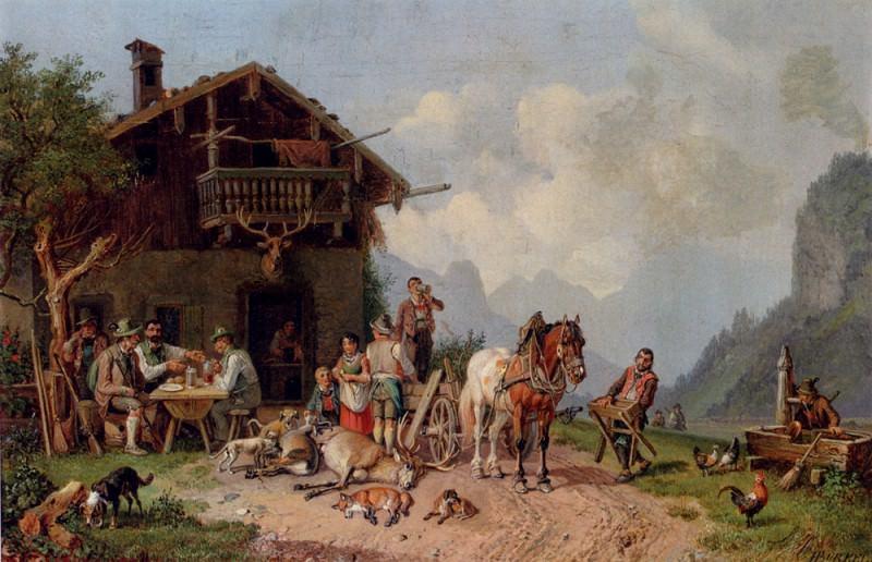 After The Hunt. Heinrich Bürkel