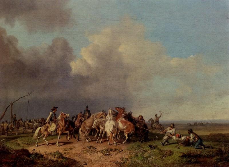 The Horse Round Up. Heinrich Bürkel