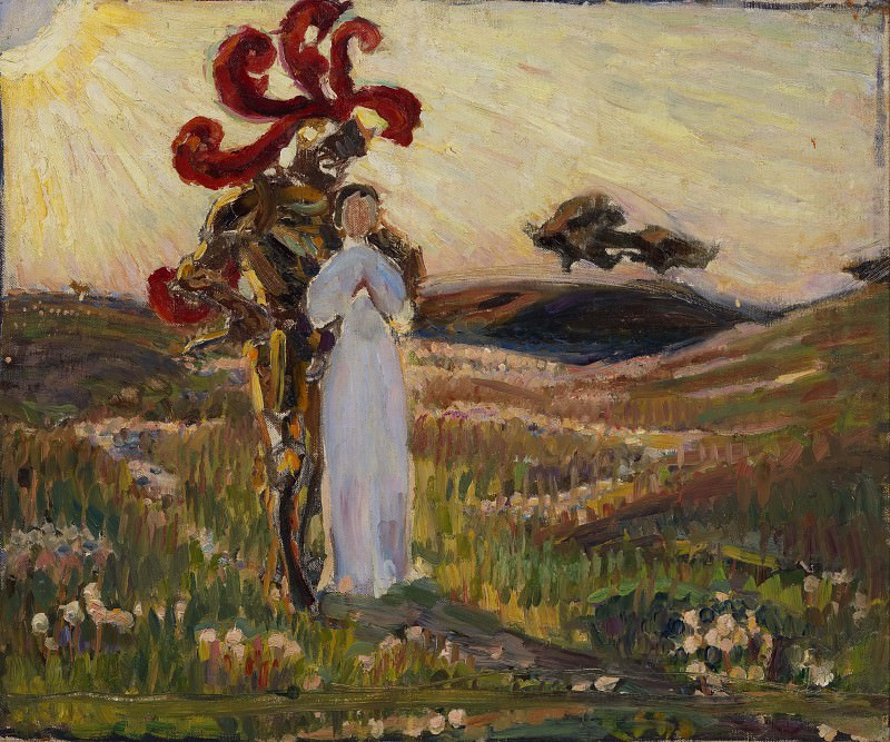 Sketch for The Knight and the Maid. Sven Richard Bergh