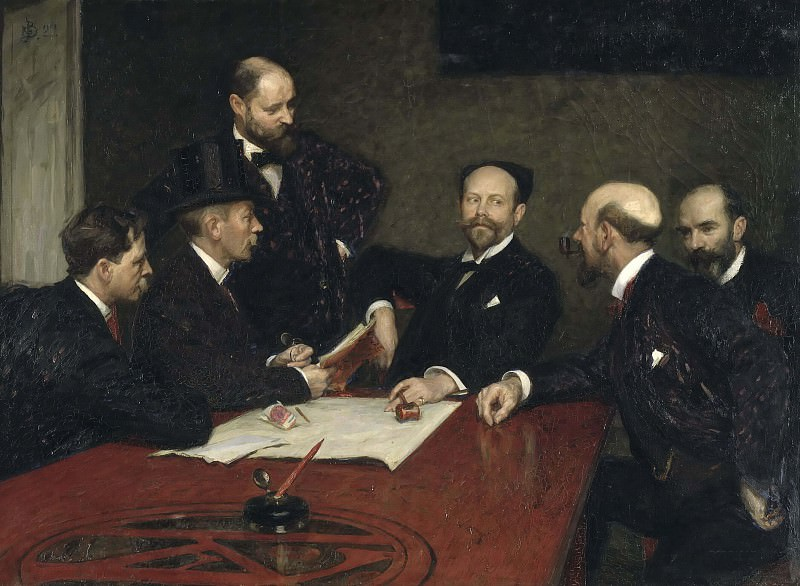 The Council of the Society of Artists. Sven Richard Bergh