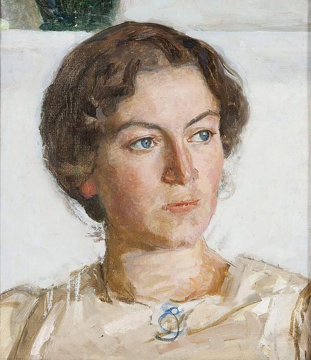 Portrait of Bodil Faber (artist Viggo Johansen's daughter). Sven Richard Bergh