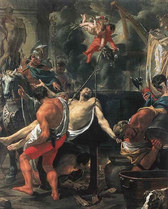 Martyrdom Of St John The Evangelist At Porta Latina. Charles Le Brun