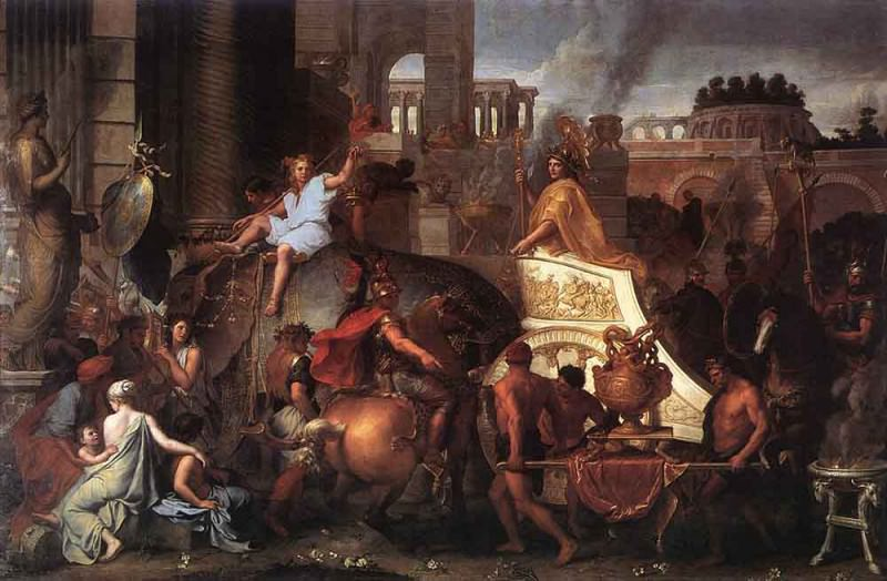 Entry Of Alexander Into Babylon. Charles Le Brun