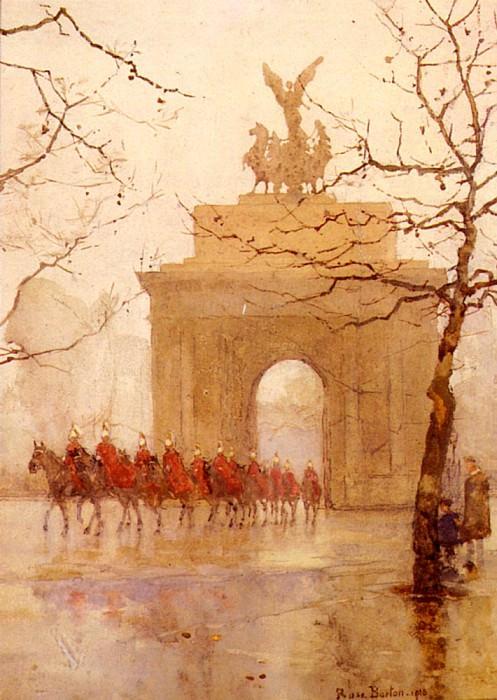 Hyde Park Corner With Household Cavalry. Rose Maynard Barton