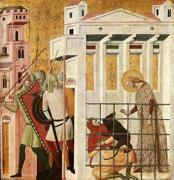 Сцены из жизни святой Коломбы Санской - Спасение святой Коломбы медведем. Джованни Баронцио