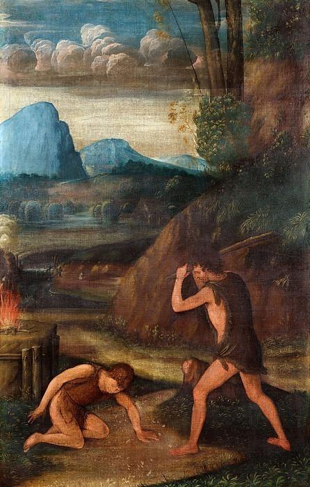 Каин убивает Авеля. Боккаччо Боккаччино