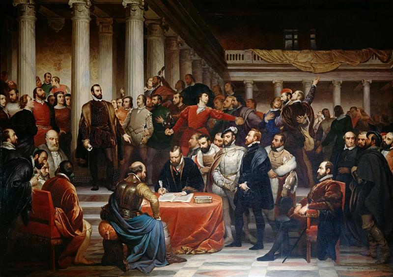 Соглашение нидерландской аристократии в 1566 году в Брюсселе. Эдуард де Бьеф