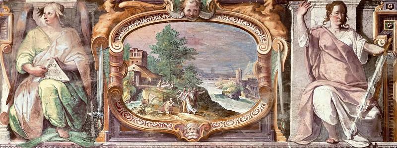The vision of Abraham three angels. Matthijs Bril