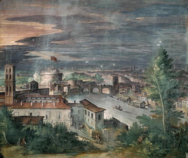 Вид на Рим с Яникульского холма. Маттейс Бриль
