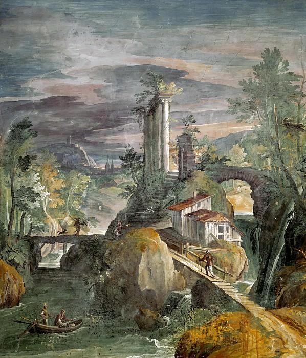 Landscape with Roman Ruins. Matthijs Bril