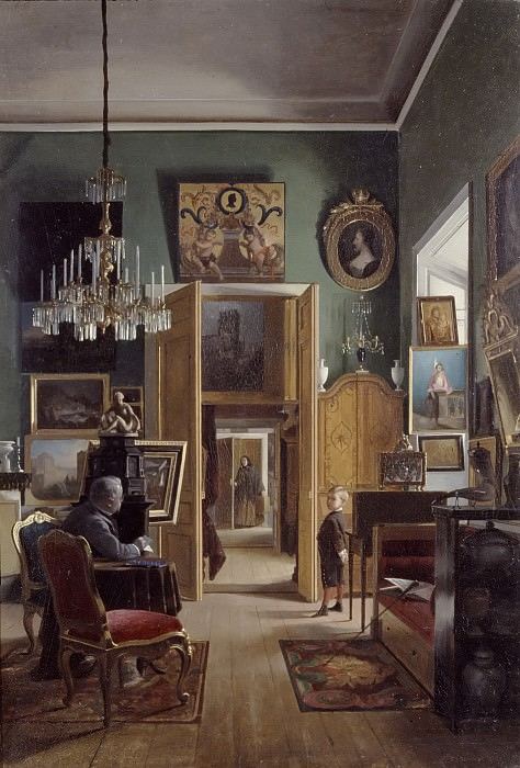 Interior of the Painter's Home in Stockholm. Carl Stefan Bennet