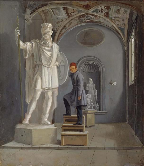 The Sculptor Fogelberg's Studio in Rome. Carl Stefan Bennet