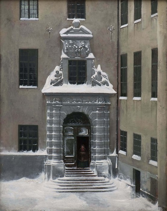 Winter Scene from the Present Foreign Office, Stockholm. Carl Stefan Bennet
