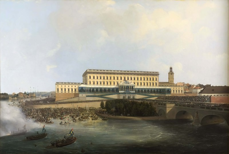 The Acclamation of King Carl XIV Johan of Sweden in 1818. Carl Stefan Bennet