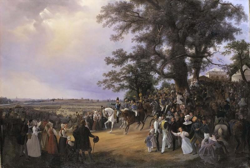 Review in Ladugårdsgärde Fields during Czar Nicolaus' Visit in 1838. Carl Stefan Bennet