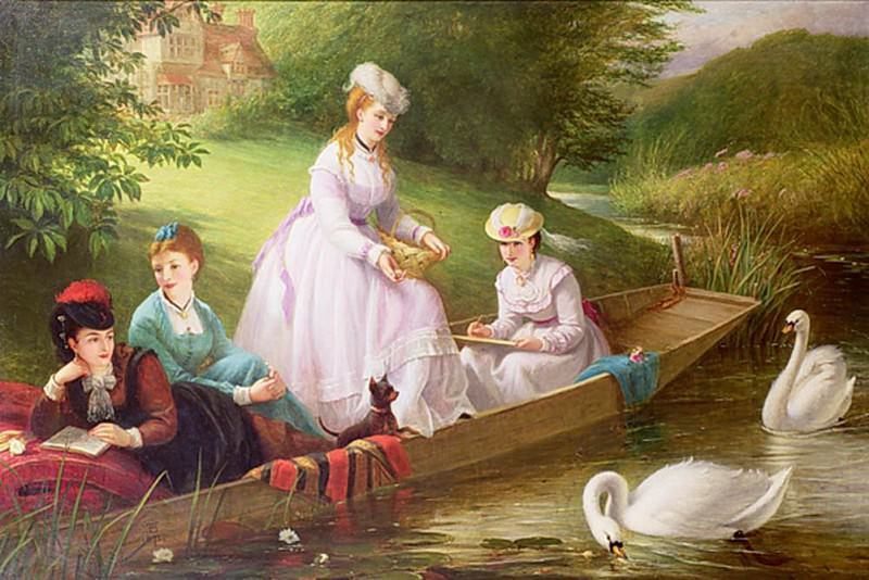 The Thames Swans. Thomas Brooks