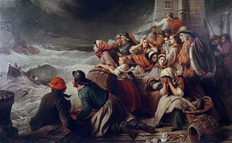 Спасательная лодка, идущая к терпящим бедствие. Томас Брукс