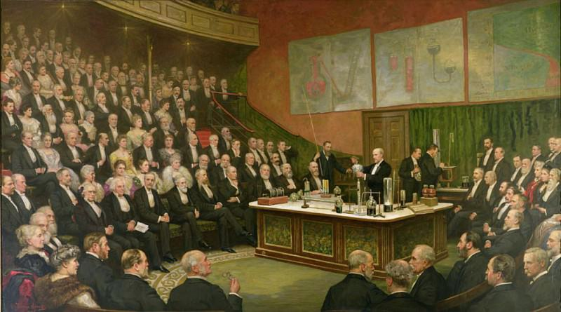 A Friday Evening Discourse at the Royal Institution; Sir James Dewar on Liquid Hydrogen 1904. Henry Jamyn Brooks