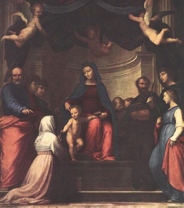 Мистическое бракосочетание Св. Катерины Сиенской. Фра Бартоломео (Баччо делла Порта)