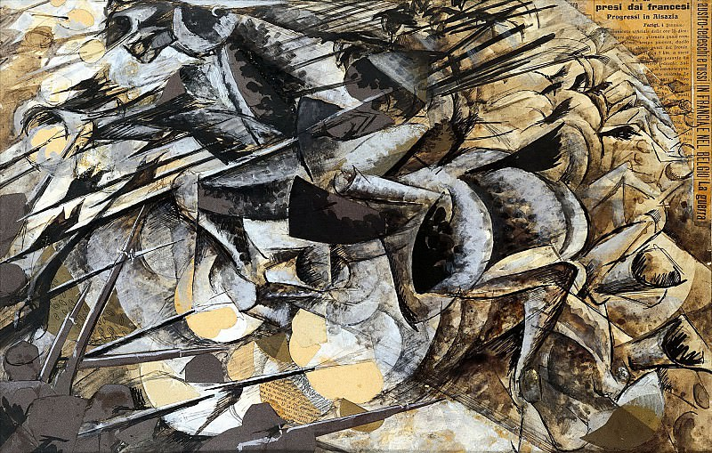 The Charge of the Lancers. Umberto Boccioni