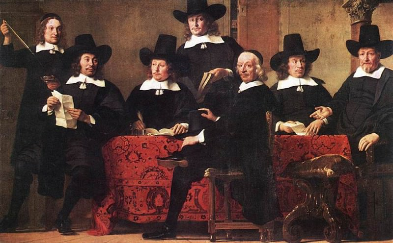 Governors of the Wine Merchants Guild. Ferdinand Bol