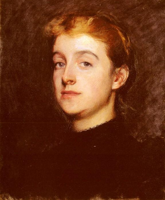 Portrait Sketch Of Eleanor Hardy Bunker. Dennis Miller Bunker