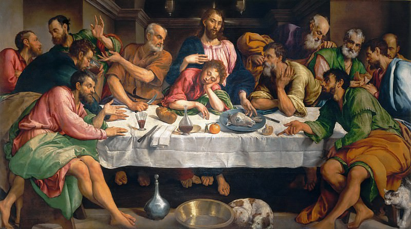 The Last Supper. Jacopo Bassano