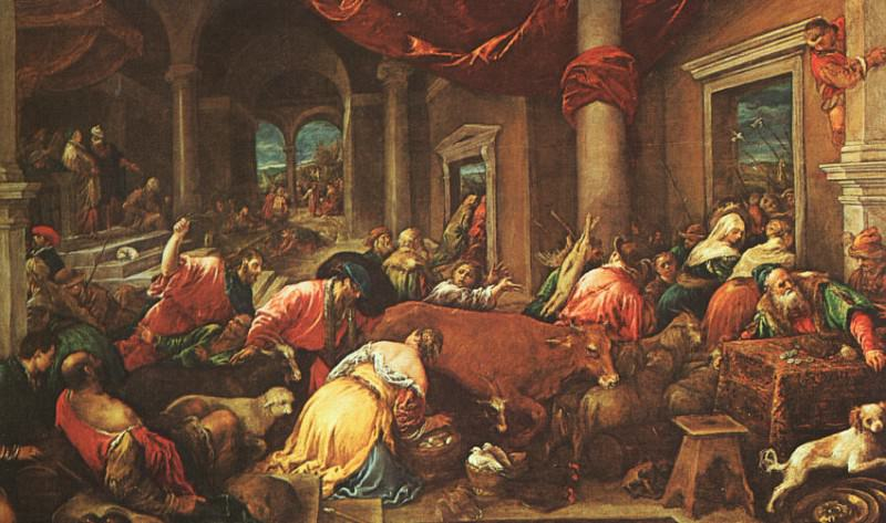 The Purification of the Temple, The National Gall. Jacopo Bassano