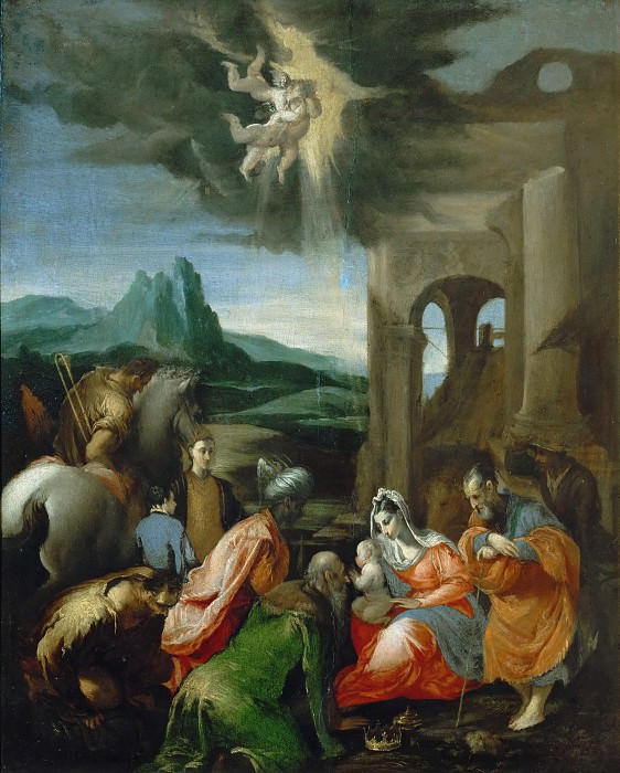 Adoration of the Magi (after). Jacopo Bassano