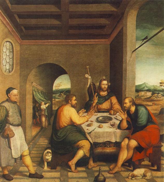 Ужин в Эммаусе, ок. 1538, Кьеза. Якопо Бассано